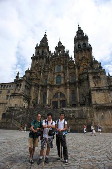 Li Shu Yan realizando el Camino de Santiago