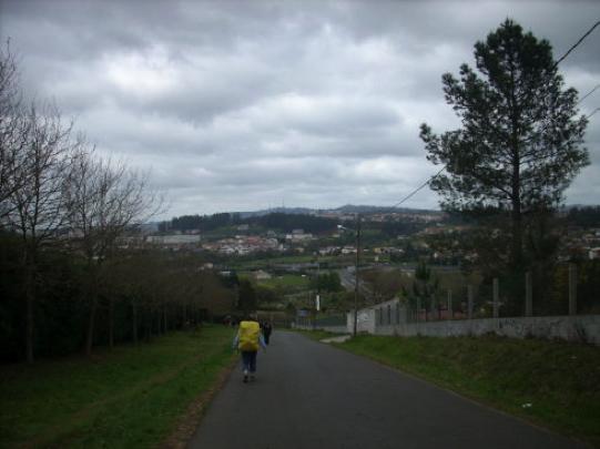 Liu en su viaje a Santiago de Compostela